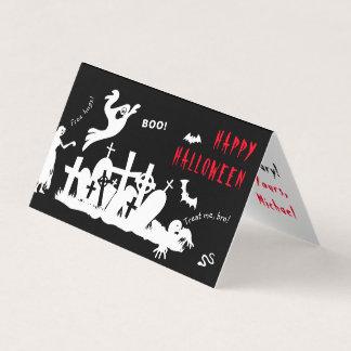 Cartão Engraçado um--um-amável feliz do Dia das Bruxas