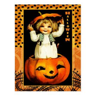 Cartão engraçados do Dia das Bruxas do miúdo do Cartão Postal