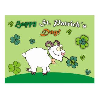 Cartão engraçados do dia dos carneiros St.Patricks