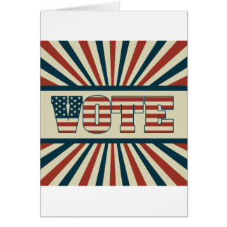 Cartão Engrenagem de votação retro