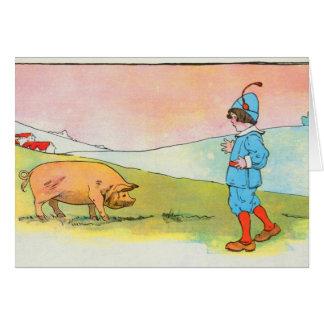 Cartão Enquanto eu fui a Bonner, eu encontrei um porco