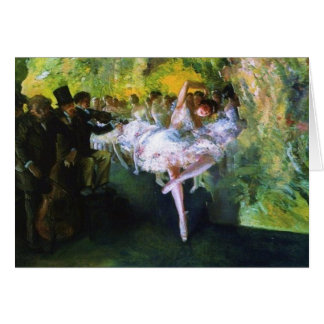 Cartão Ensaio do balé na Nova Iorque