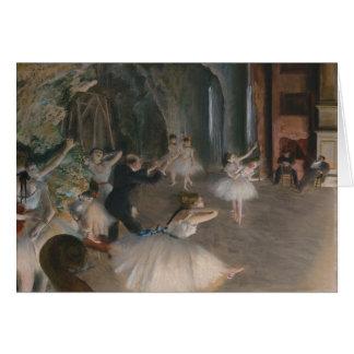 Cartão Ensaio do palco de Edgar Degas |