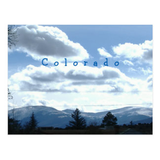 Cartão ensolarados do Mountain View de Colorado