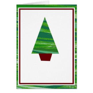 Cartão Entalhe da árvore de Natal