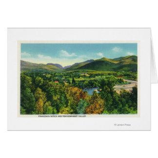 Cartão Entalhe de Franconcia & vale de Pemigewasset
