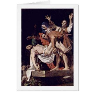 Cartão Entombment por Michelangelo Merisi a Dinamarca