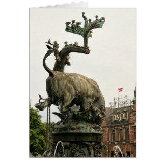 Cartão Entrada Copenhaga Dinamarca dos jardins de Tivoli