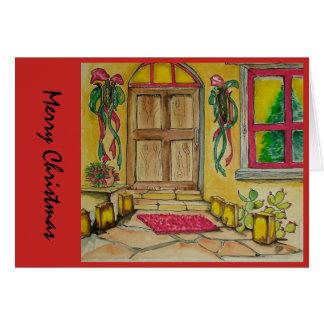 Cartão Entrada de porta do sudoeste do Natal mim