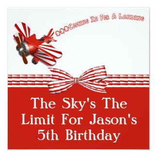Cartão Entrar para o aniversário de aterragem do avião
