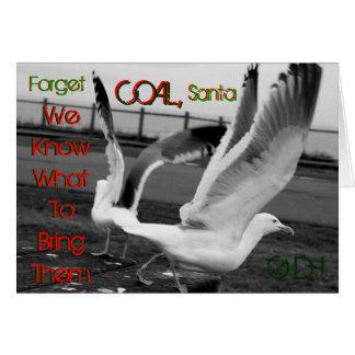Cartão Entrega do Natal - estilo da gaivota