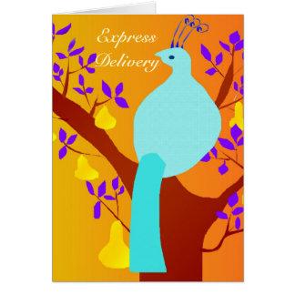 Cartão Entrega expressa - abundância de transbordamento