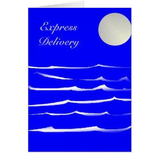 Cartão Entrega expressa - noite do luar