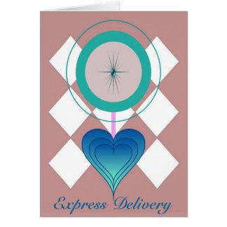 Cartão Entrega expressa - nosso tempo…