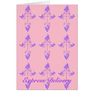 Cartão Entrega expressa - onde há um amor