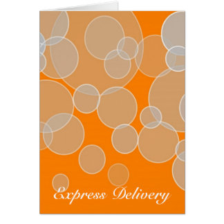 Cartão Entrega expressa - percepção