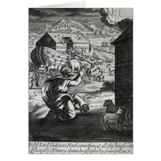 Cartão Entreth de Noah a arca