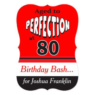 Cartão Envelhecido à perfeição no aniversário do 80 de