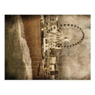 Cartão envelhecido da roda grande de Brigghton