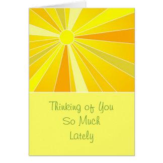 Cartão Enviando a luz do sol que pensa de você