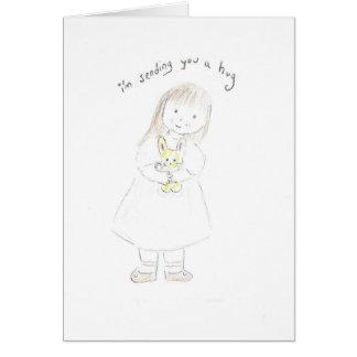 Cartão Enviando um abraço