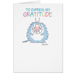 Cartão ENVIE-O ao obrigado PELUDO do ANIMAL