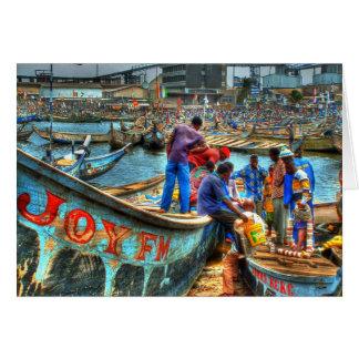Cartão Envolvendo o dia, porto Ghana de Tema