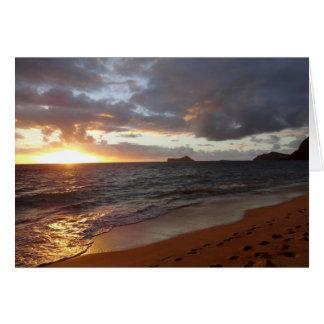 Cartão épico do nascer do sol de Waimanalo