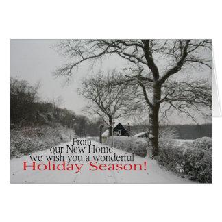 Cartão Época natalícia da casa nova - endereço novo