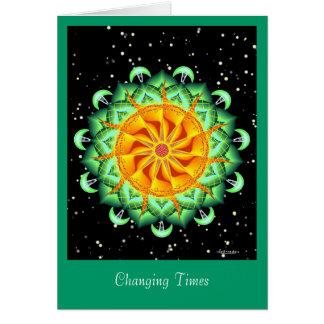 Cartão Épocas em mudança