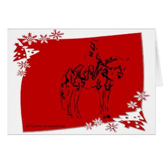 Cartão equestre do adestramento do feriado