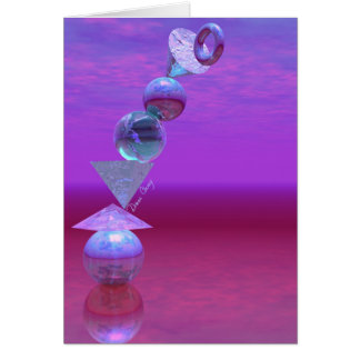 Cartão Equilíbrio fúcsia e violeta do equilíbrio -