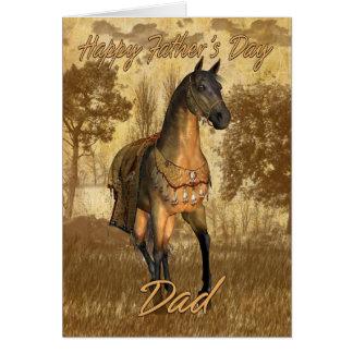Cartão eqüino, cavalo do dia dos pais