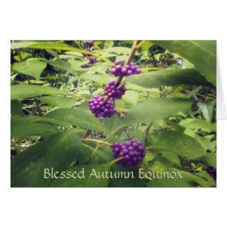 Cartão Equinócio bonito Mabon do outono da baga da beleza