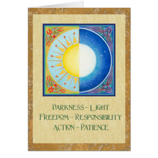 Cartão Equinócio celta Sun e lua