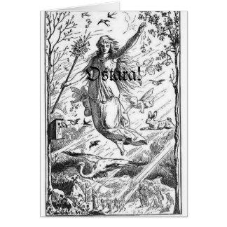 Cartão Equinócio de primavera de Ostara