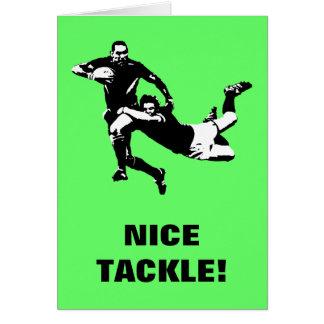 Cartão Equipamento agradável, rugby