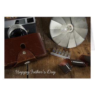 Cartão Equipamento dias de idade da fotografia do pai
