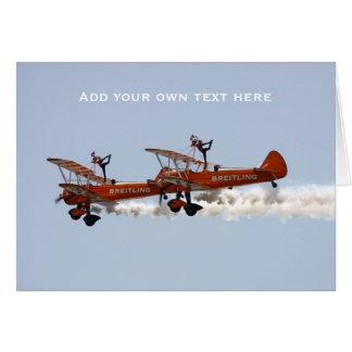 Cartão Equipe aerobatic da exposição dos caminhantes da