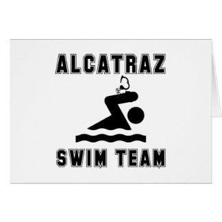 Cartão Equipe de natação de Alcatraz
