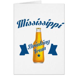 Cartão Equipe do bebendo de Mississippi