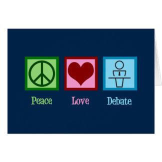 Cartão Equipe do debate do amor da paz