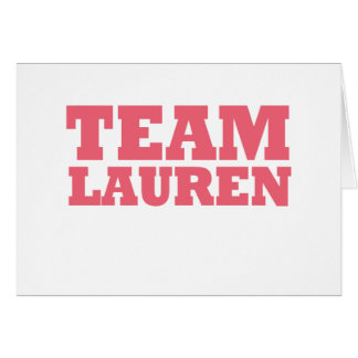 Cartão Equipe Lauren