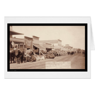 Cartão Equipes do boi no território SD 1887 de Sturgis