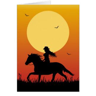 Cartão Equitação