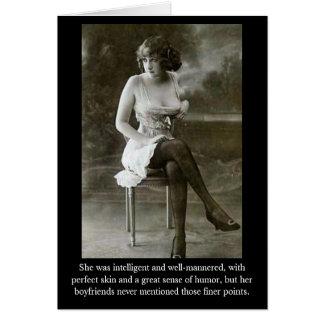 Cartão Era inteligente e well-mannere…