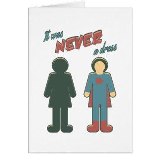 Cartão Era nunca um vestido - mulher super da menina da