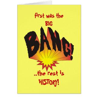 Cartão Era primeiramente Big Bang…
