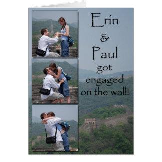 Cartão Erin & Paul - salvar a data