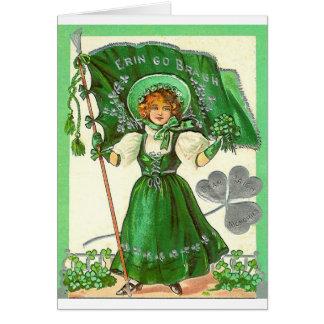 Cartão Erin vai menina do trevo de Bragh